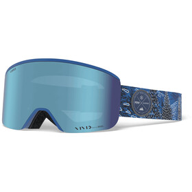 Giro Axis Masque Homme, pow/vivid royal/vivid infrared